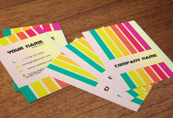 25 rainbow business card templates free premium download multipurpose rainbow business card reheart Images