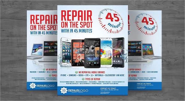 Mobile Repairing Spot Flyer Template