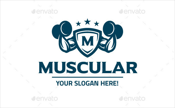 Muscular Fitness Logo Template