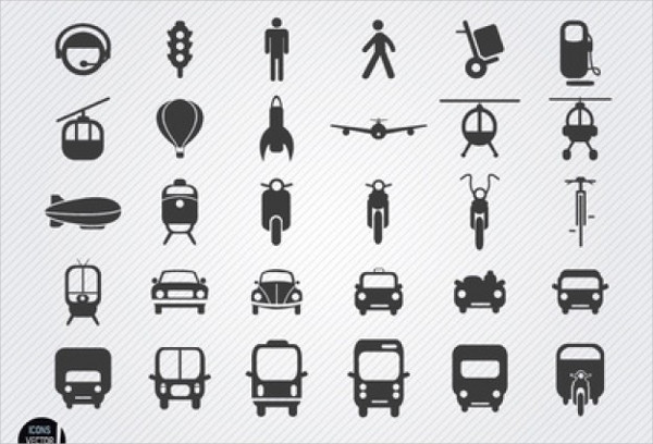 Oulined Icons of Vehicle Free