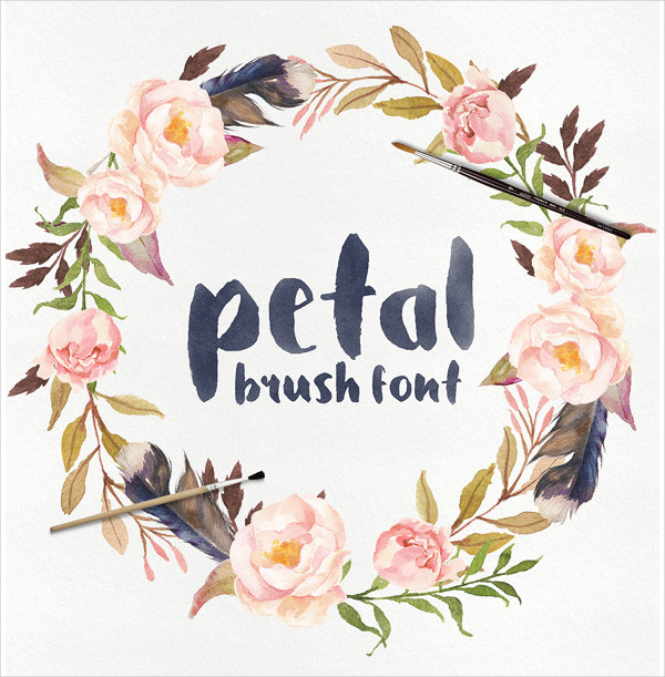 Petal Brush Fonts