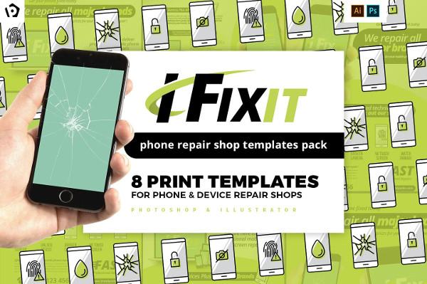 Phone Repair Shop Templates Pack