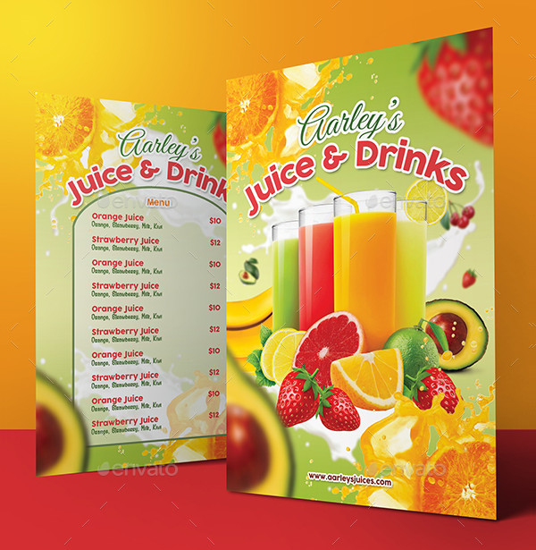 Printable Fruit Juice Menu Templates