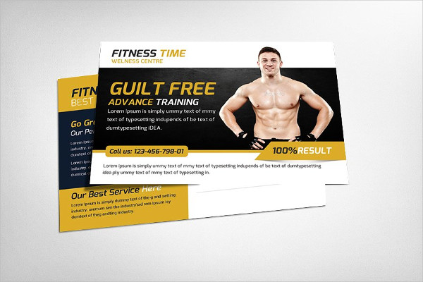 Fantastic Fitness Postcard Templates