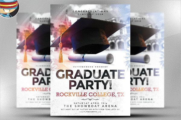 Professional Graduate Party Flyer Template