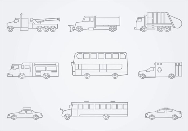 Public Service Vehicles Icon Free