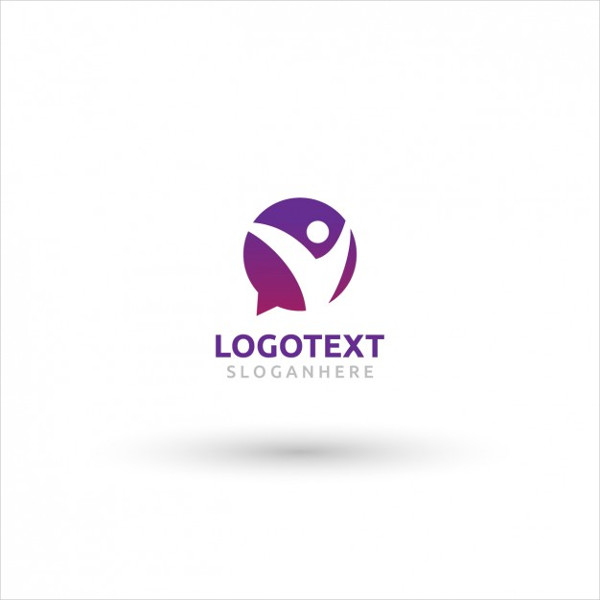 Purple Speech Bubble Logo Design Free