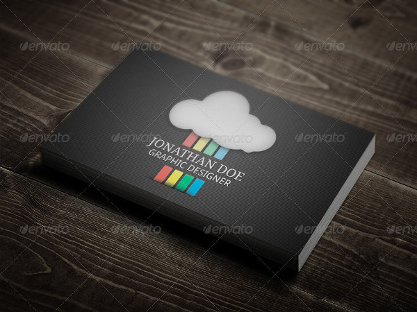 25 rainbow business card templates free premium download rainbow design business card reheart Images
