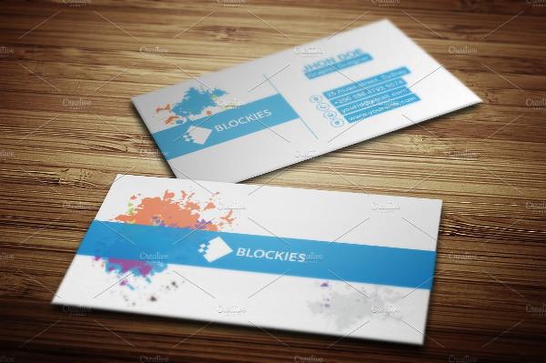 25 rainbow business card templates free premium download rainbow splash business card template reheart Images