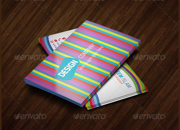 25 rainbow business card templates free premium download rainbow style business card template reheart Images