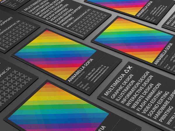 25 rainbow business card templates free premium download rainbow typography business card design reheart Images