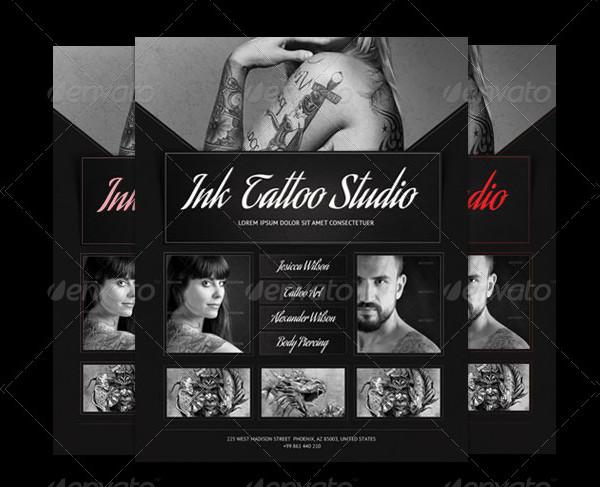 Retro Tattoo Flyer Template