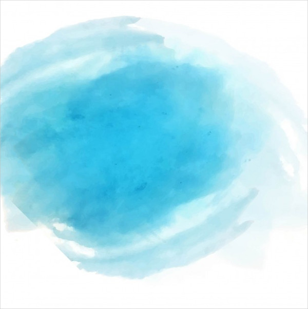 Round Blue Watercolor Texture Free Download
