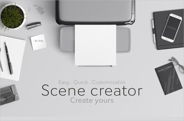 Scene Creator Mock-Up Free PSD