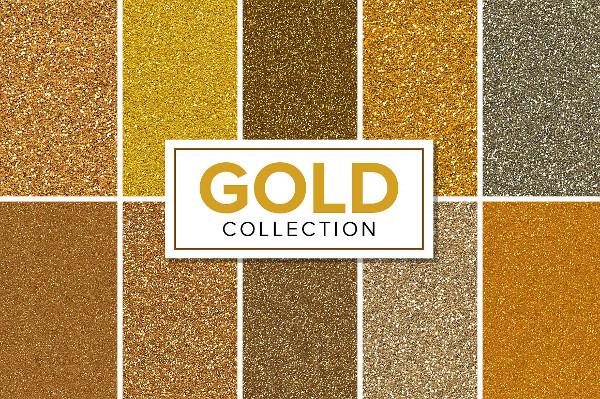 Seamless Glitter Patterns & Textures Bundle