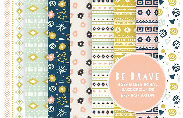 Seamless Tribal Patterns Design