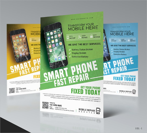 Cell Phone Repair PSD Flyer Template
