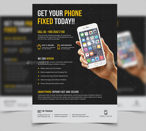 Awesome Smartphone Repair Flyer Template