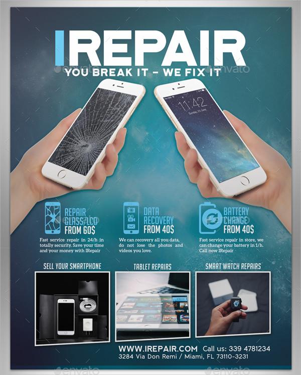 Smartphone Glass Repair Flyer Template