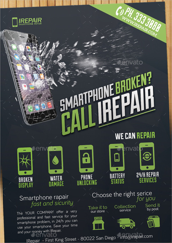 Popular Smartphone Repair Flyer Template