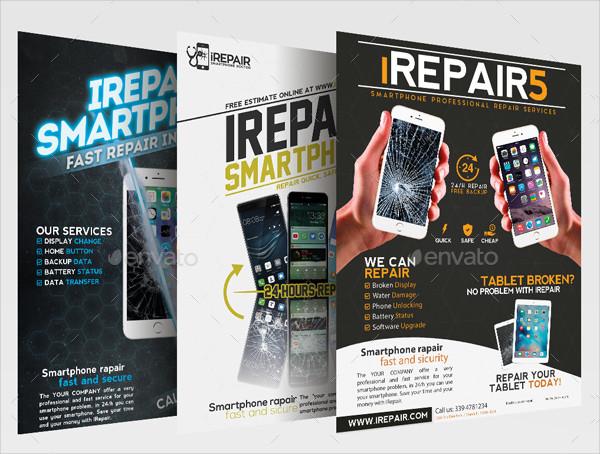 Mobile Phone Repair Flyer or Poster Bundle