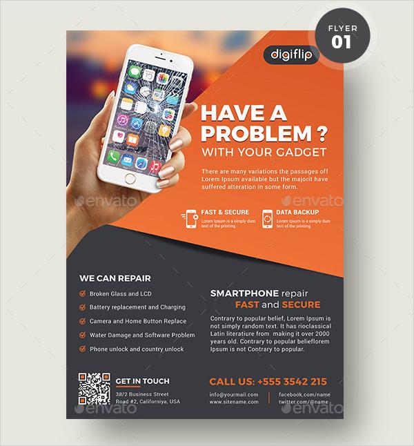 Smartphone Repair Service Flyer Template