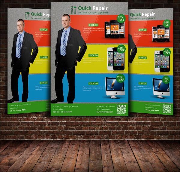 Mobile Phone Screen Repair Flyer Template