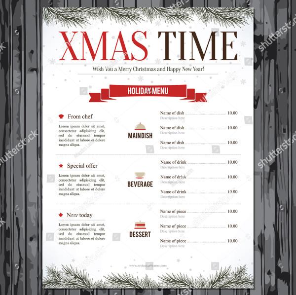 Special Christmas Festive Menu Design