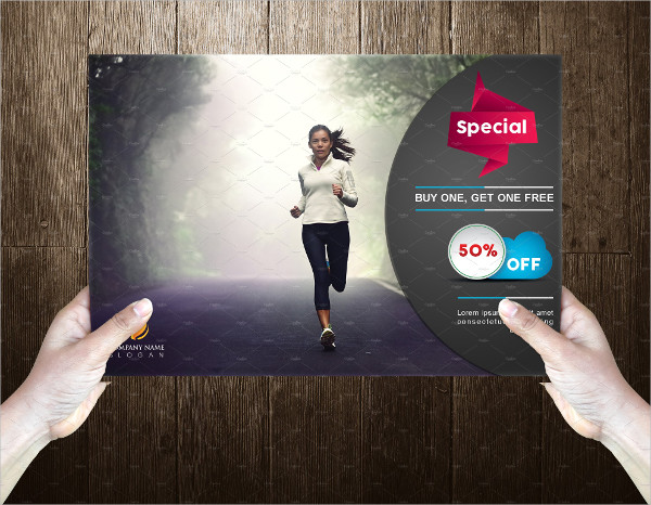 Special Fitness Postcard Template