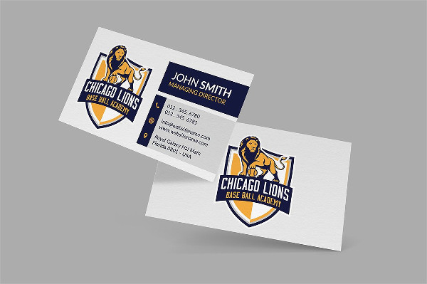 Sports Training Business Card Template