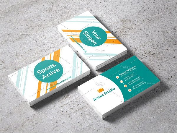 Unique Sports Active Business Card Template