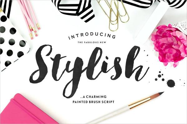 Stylish Brush Fonts