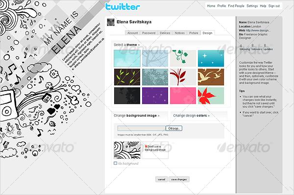 Stylish Doodles Twitter Background