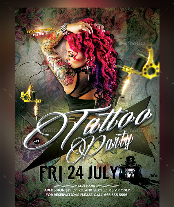 Stylish Tattoo Convention Flyer Template