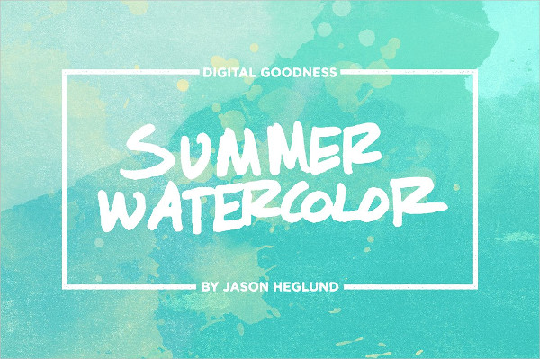 Summer Watercolor Texture Pack