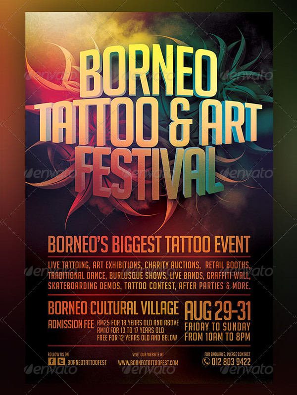 Tattoo And Art Festival Flyer Template