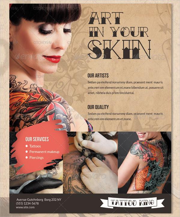 Printable Tattoo King Flyer Template