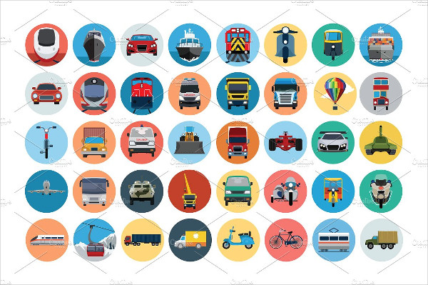 Popular Vehicle Flat Icons