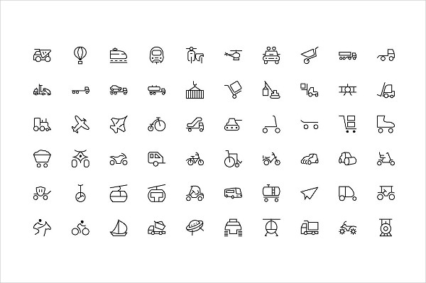 Transport Photoshop Icons