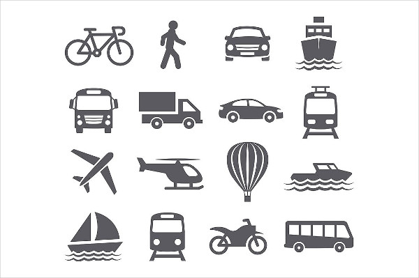 Editable Transport Icons