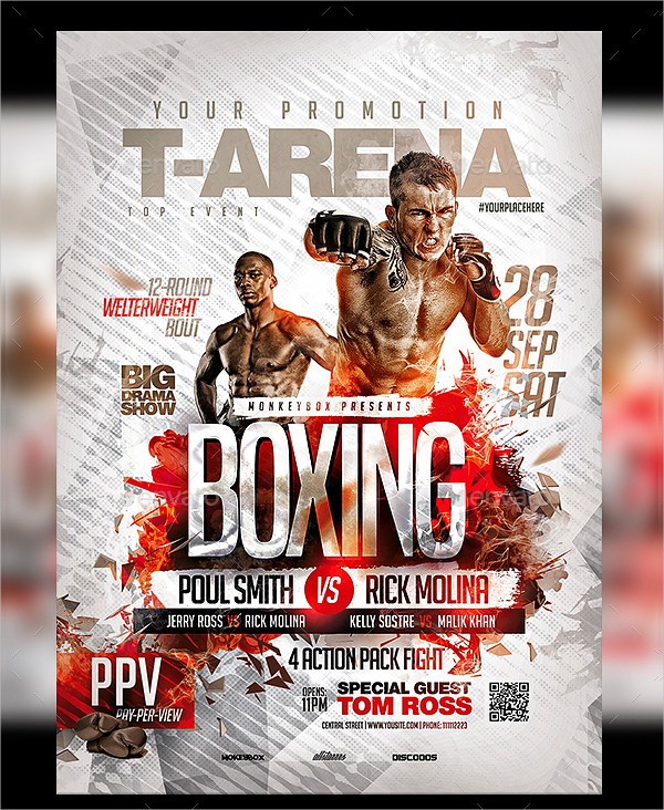 23 Boxing Flyer Templates Free Premium Download