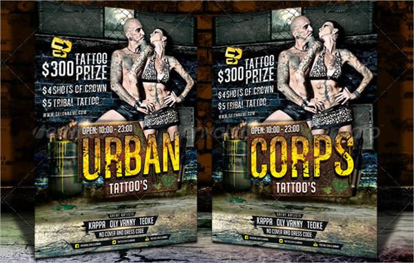 Urban Tattoo Flyer Template