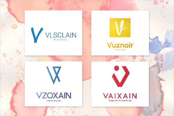 V Letter Alphabetic Logos