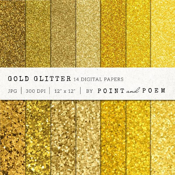 Valentine Gold Glitter Texture