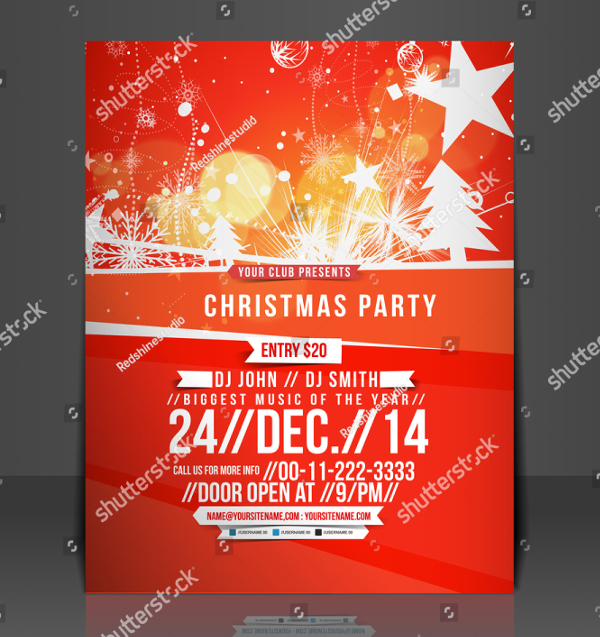 Vector Christmas Flyer Template
