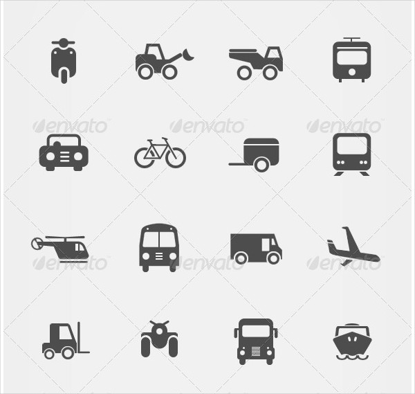Perfect Vehicle Icon Set