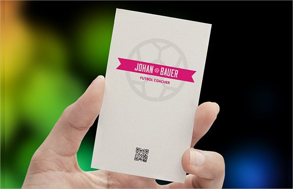Double Sided Sport Business Cards