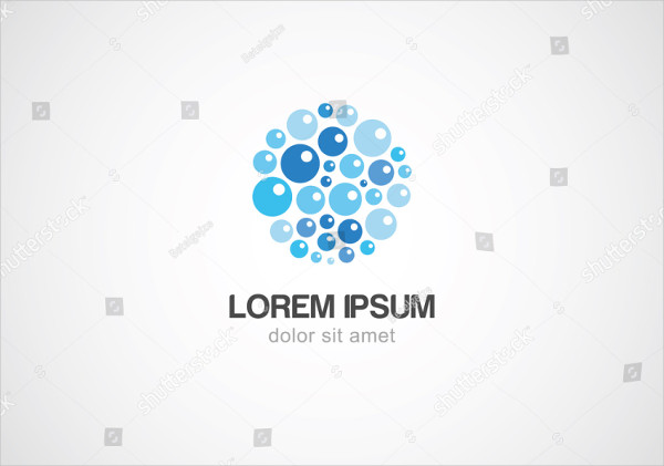 Water Bubbles Logo Template