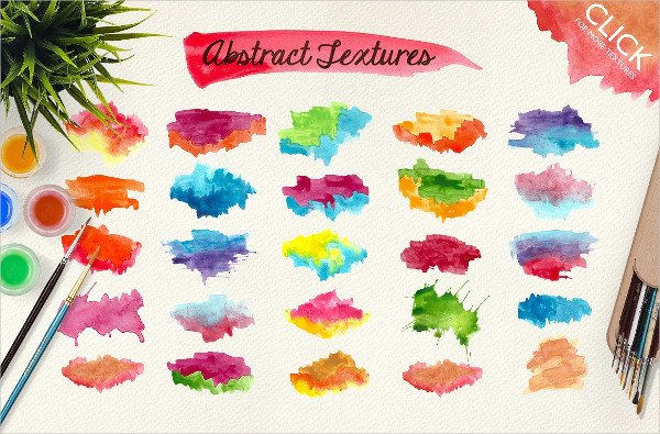 500 Watercolor Abstract Textures Packs