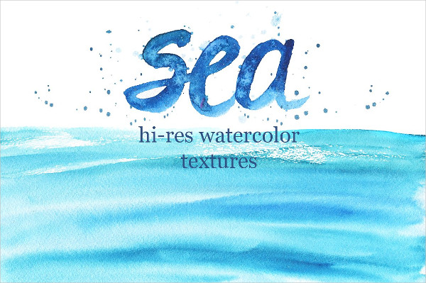 Hi-Res Watercolor Sea Textures